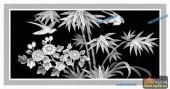 03-竹叶-098-花鸟浮雕图库