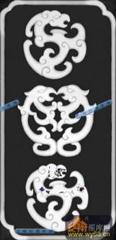草龙-团龙纹-091-龙凤灰度图案