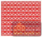 中式镂空装饰001-T形花纹-中式镂空装饰001-034-镂空雕花矢量图