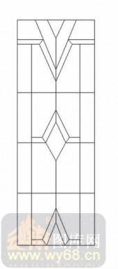 喷砂玻璃图库-12镶嵌-简约线条-00035