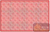 镂空装饰单式002-迷宫花纹-镂空装饰单式002-002-装修效果图