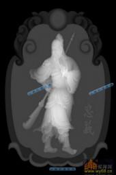 小佛-武圣-039-玉雕浮雕图库