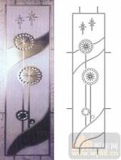 喷砂玻璃-浮雕贴片-艺术花卉-00027