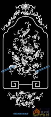 04-花藤-031-花鸟灰度图