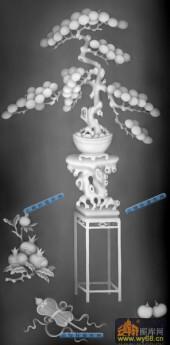 04-松-018-花鸟灰度图