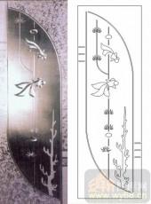 喷砂玻璃-浮雕贴片-金鱼-00005