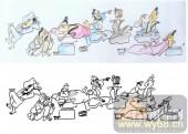 28人及动物-群饮图-00001-艺术玻璃