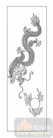 01传统系列-神龙戏珠-00055-艺术玻璃图库