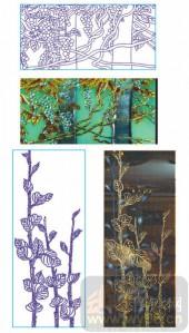 2011设计艺术玻璃刻绘-玉堂富贵-1-玻璃门