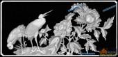 03-芙蓉花-063-花鸟精雕灰度图