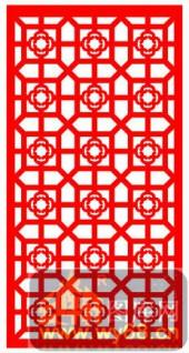 镂空装饰单式002-花朵花纹-镂空装饰单式002-007-镂空雕刻模板下载