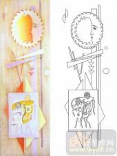 04肌理雕刻系列样图-艺术头像-00241-玻璃门