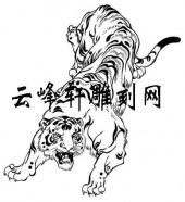 虎3-矢量图-乳犊不怕虎-126-虎国画矢量