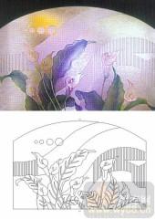 04肌理雕刻系列样图-马蹄莲-00234-装饰玻璃