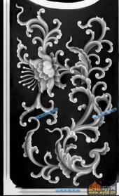 宝座002-繁花似锦-004-宝座精雕灰度图