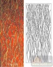 艺术玻璃图-肌理雕刻系列1-黄金丝-00101