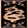 草龙靠背板-中式图案浮雕图库