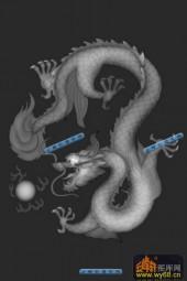 01-龙珠-105-玉雕灰度图