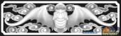 02-蝙蝠-046-花鸟雕刻灰度图