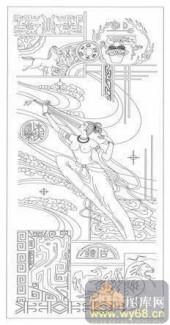 2008-白描图-姑射仙人-2008-008-传统仕女图案