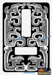 01-龙纹-015-玉雕精雕灰度图