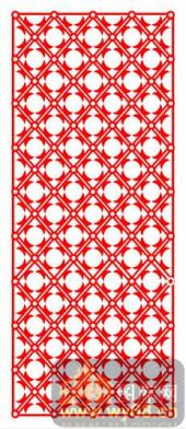 中式镂空装饰001-圆形花朵-中式镂空装饰001-012-镂空花纹矢量图