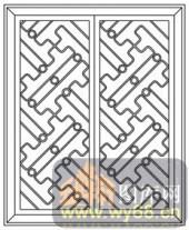 镂空装饰组合式-几何窗扇-镂空装饰组合式-030-镂空雕刻图片下载