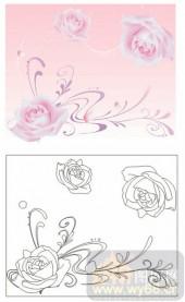 2011设计艺术玻璃刻绘-玫瑰花-雕刻玻璃