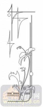 玻璃门-08四扇门(4)-艺术花-00025