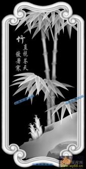 04-竹-010-花鸟浮雕灰度图