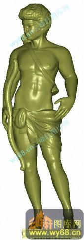罗马人物雕塑-电脑圆雕图库
