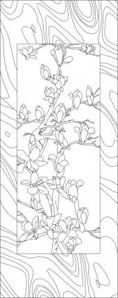 竖板36,玉兰花