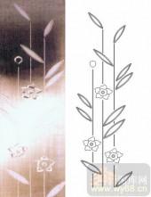 玻璃门-浮雕贴片-花朵-00011