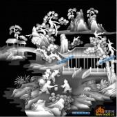 百子图002-童趣-1_6-雕刻灰度图