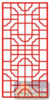 中式镂空装饰001-典雅-中式镂空装饰001-028-木雕花镂空隔断