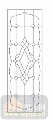 装饰玻璃-12镶嵌-欧式花纹-00049