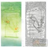 2011设计艺术玻璃刻绘-蝶恋花-装饰玻璃