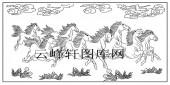 祥云草原八骏马