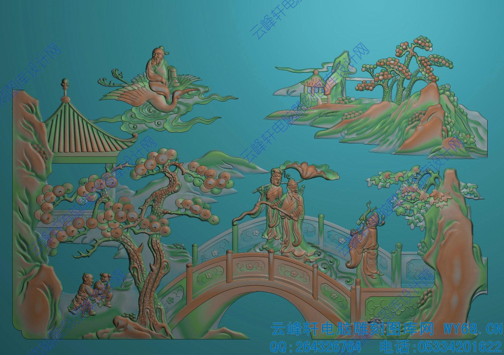 浮雕图-红木家具雕刻图