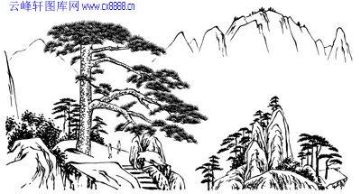 迎客 松 泰山 泰山 主题 海报 矢量 图 泰山 文化